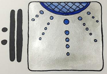 Mayan Glyph, 12 Jaguar/IX