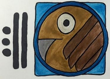 Mayan Glyph, 13 Eagle/MEN